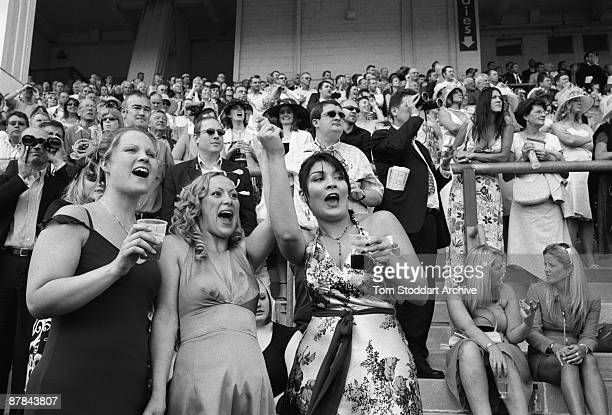 Winners and losers in the crowd during a race at Epsom June 2007 Epson Downs Racecourse is where the iconic Derby Festival dating back to 1780 is...