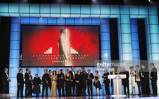 Winners and presenters during 2006 European Film Awards - Ceremony in Warsaw, Poland.