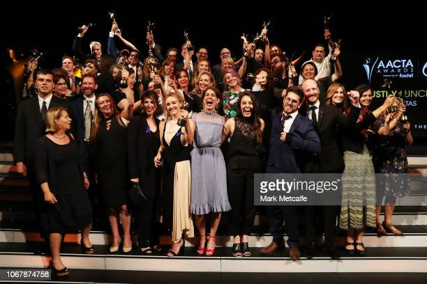 Winners at the 2018 AACTA Awards Presented by Foxtel | Industry Luncheon at The Star on December 3 2018 in Sydney Australia