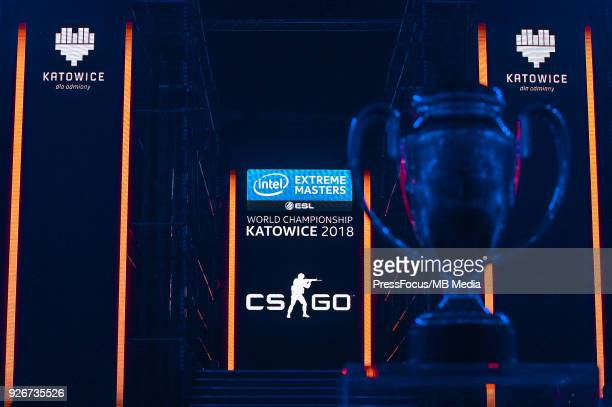 Winners' cup during CounterStrike Global Offensive semi final game between Astralis and FaZe Clan on March 3 2018 in Katowice Poland