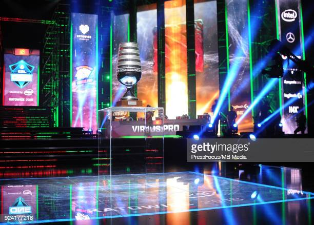 Winners' cup during Dota 2 Major Final match between Vici Gaming and Virtuspro on February 25 2018 in Katowice Poland