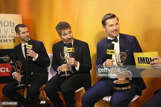 Winners David Benioff and Nikolaj CosterWaldau attend IMDb Live After The Emmys presented by TCL on September 18 2016 in Los Angeles California