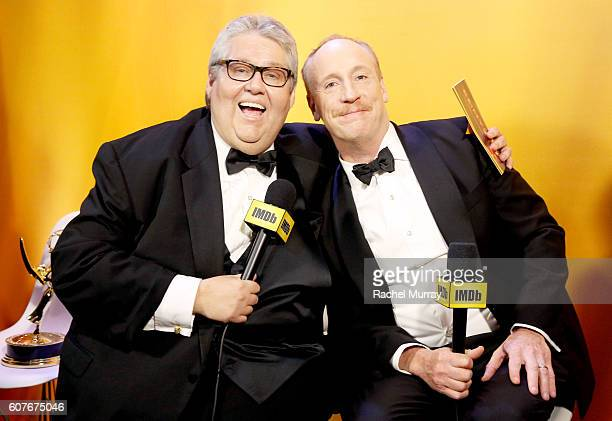 WinnerS David Mandel and Matt Walsh attend IMDb Live After The Emmys presented by TCL on September 18 2016 in Los Angeles California