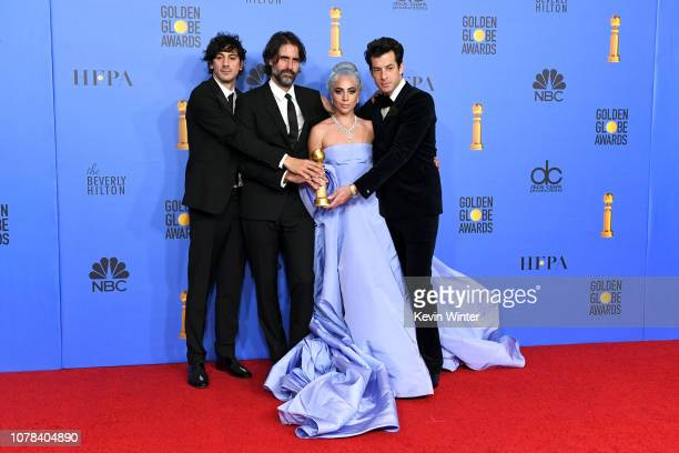 Winners for Best Original Song Motion Picture for 'Shallow A Star is Born' Mark Ronson Lady Gaga Andrew Wyatt and Anthony Rossomando pose with the...