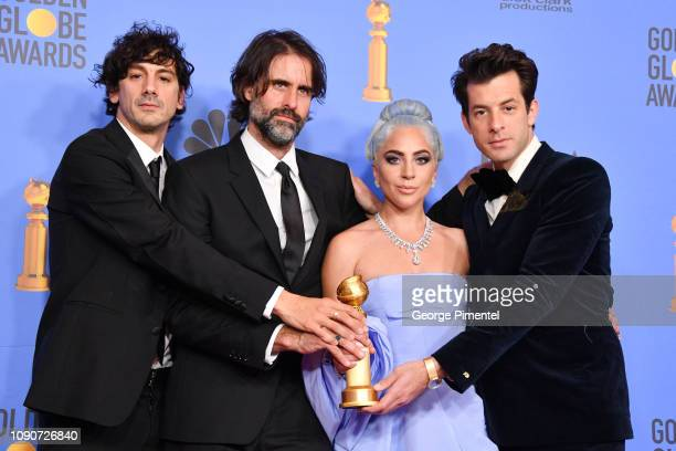 Winners for Best Original Song Motion Picture for 'Shallow A Star is Born' Mark Ronson Lady Gaga Andrew Wyatt and Anthony Rossomando pose in the...