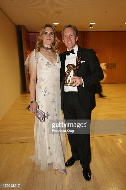 Winners Johannes B Kerner and wife Britta Becker In the aftershow party at 57th Bambi Awards in the International Congress Center Munich