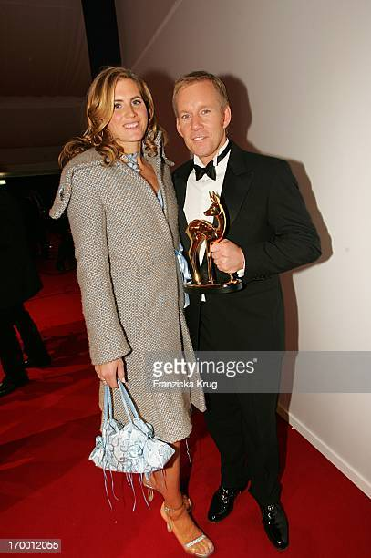 Winners Johannes B Kerner With His wife Britta Becker In The After Show Party For media prize Bambi in Hamburg