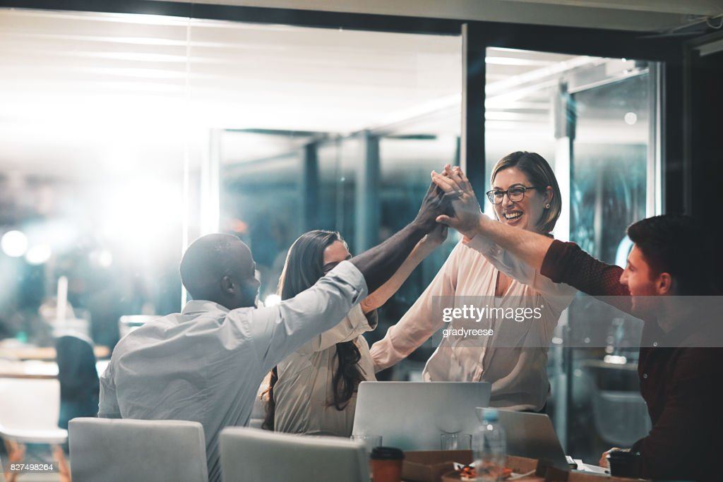Winners make it happen : Stock Photo