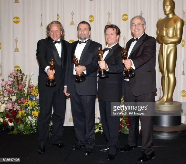 Winners of Best Achievement in Visual Effects for the film Lord of the Rings: The Two Towers Jim Rygiel, Joe Letteri, Randell William Cook and Alex...