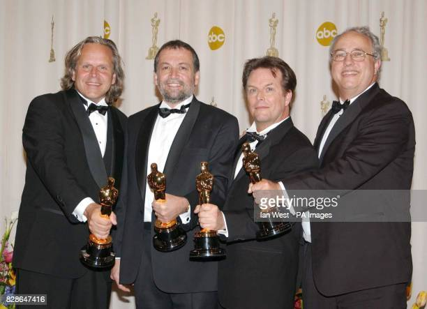Winners of Best Achievement in Visual Effects for the film Lord of the Rings The Two Towers Jim Rygiel Joe Letteri Randell William Cook and Alex...