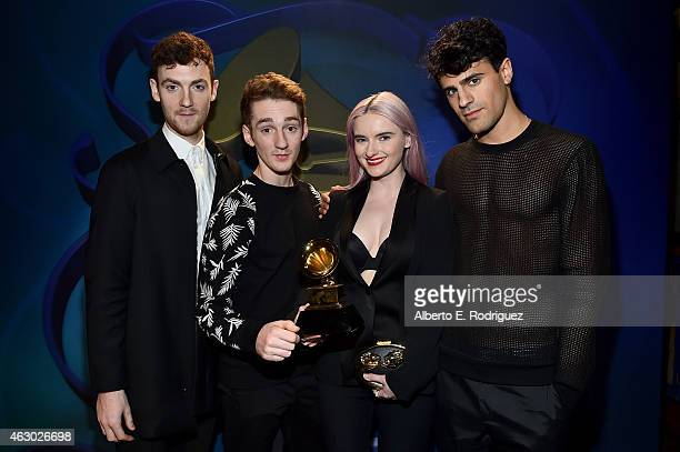 Winners of Best Dance Recording Jack Patterson Luke Patterson Grace Chatto and Milan Neil AminSmith of Clean Bandit pose at the Premiere Ceremony...