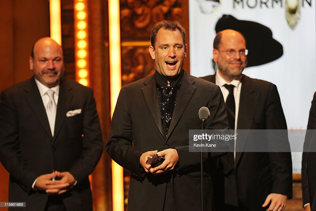 Winners of Best Musical for 'Book of Mormon' Trey Parker speaks on stage on stage during the 65th Annual Tony Awards at the Beacon Theatre on June 12, 2011 in New York City.