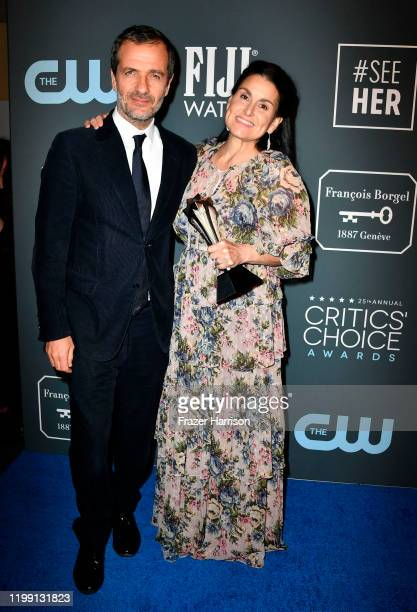 Winners of Best Picture for 'Once Upon a Time... In Hollywood' David Heyman and Shannon McIntosh pose in the press room during the 25th Annual...