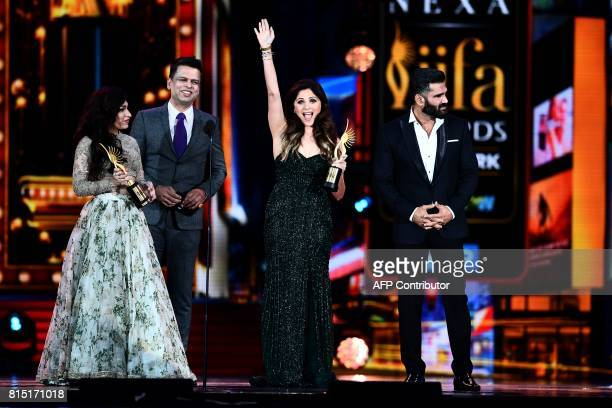 Winners of Best Playback Singer Female Kanika Kapoor for Da Da Dasse from movie Udta Punja and Tulsi Kumar for Soch Na Sake from movie Airlift...