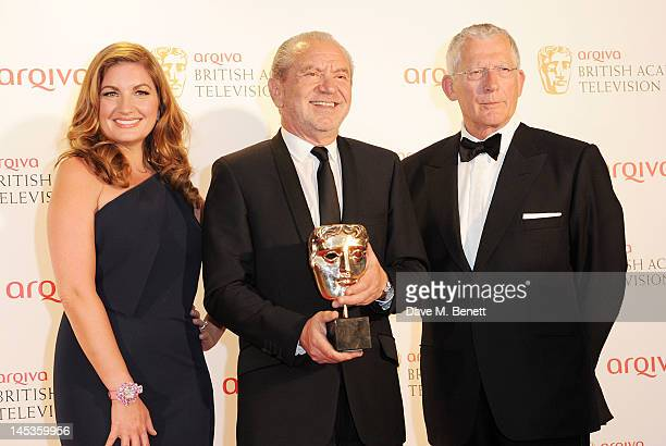 Winners of Best Reality or Constructed Factual for 'The Young Apprentice' Karren Brady Lord Alan Sugar and Nick Hewer pose in front of the winners...