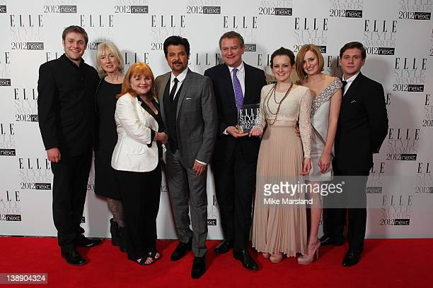 Winners of Best Show award Thomas Howes Susannah Buxton Lesley Nicol presenter Anil Kapoor Hugh Bonneville Sophie McShera Laura Carmichael and Allen...