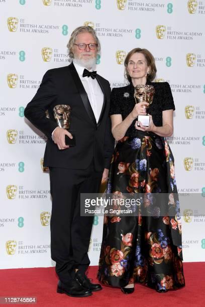 Winners of Original Screenplay award for The Favourite Tony McNamara and Deborah Davis pose in the press room during the EE British Academy Film...