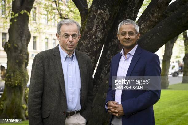 Winners of the 2020 Millennium Technology Prize, Indian-born British professor Sir Shankar Balasubramanian and British professor Sir David Klenerman...