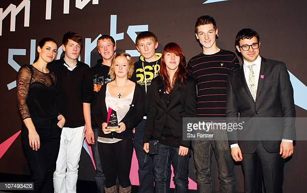 Winners of the Best Fiction 'The Olympic Village' Jess Milverton, Sophie Lester, Scott Kingman, Danny Earle, Ryan Rodd and Ben Harding pose with...