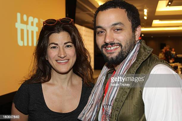 Winners of the BlackBerry People's Choice Documentary Award for 'The Square' Director Jehane Noujaim and producer Karim Amer attend the 2013 Awards...