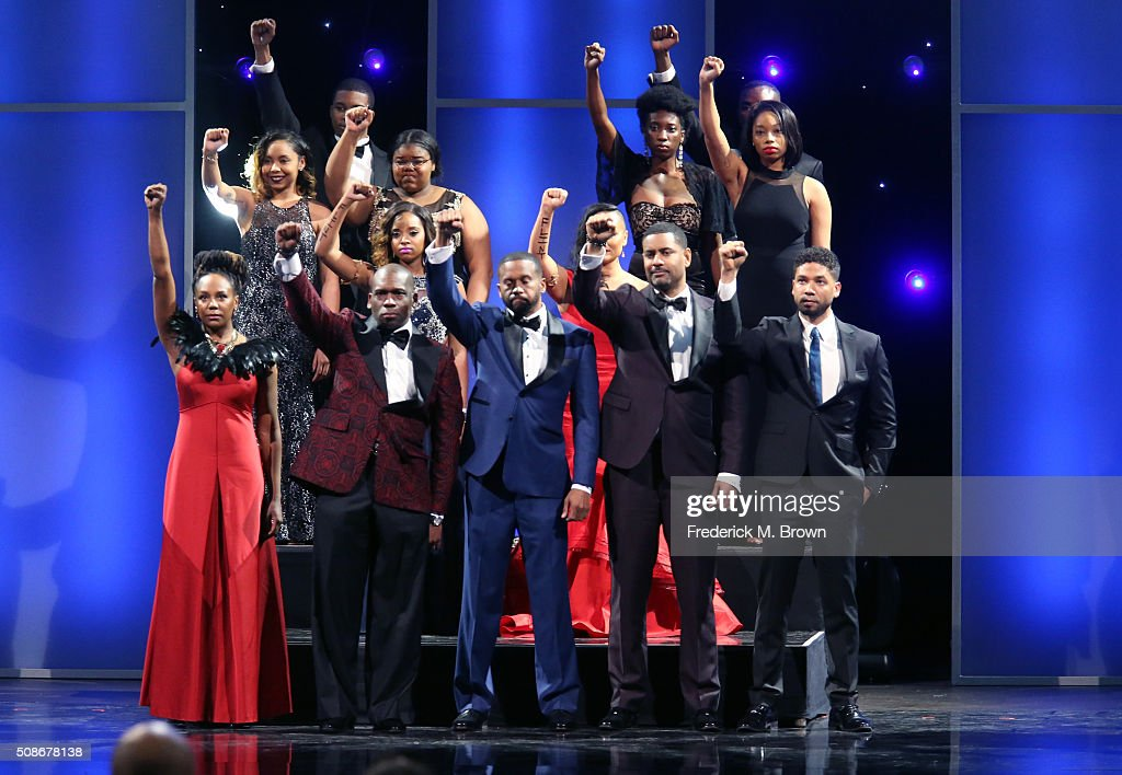 Winners of the Chairman's Award speak onstage during the 47th NAACP Image Awards presented by TV One at Pasadena Civic Auditorium on February 5, 2016 in Pasadena, California.