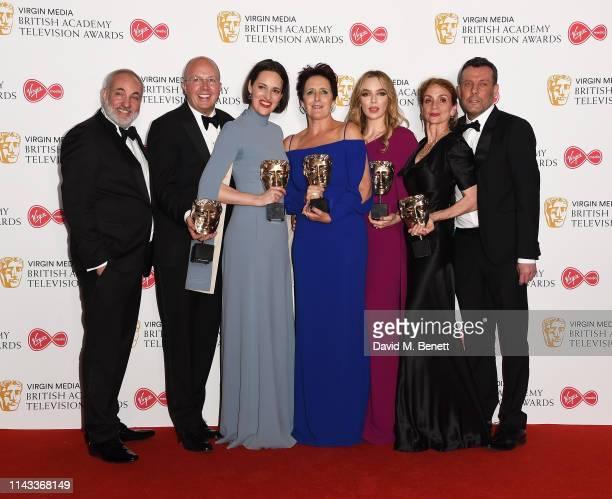 Winners of the Drama Series award for 'Killing Eve' Colin Wratten and Phoebe WallerBridge winner of the Supporting Actress award for 'Killing Eve'...