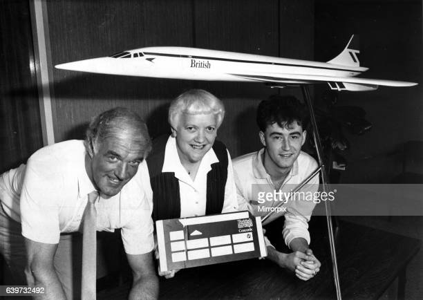 Winners of the Evening Chronicle competition to win a flight on Concorde in August 1984 Pictured left to right are Mr Gordon Campbell of Whitley Bay...