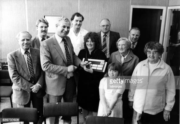 Winners of the Evening Chronicle competition to win a flight on Concorde in August 1984 Pictured with Mr Graham Stanton editor of the Evening...