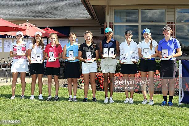 Winners of the girls 1415 year old age group are Ashley Knight Alexandra Muracca Lizzie Pierce Hunter Kehoe Jessica Hahn Shikha Jha Olivia Zambruno...