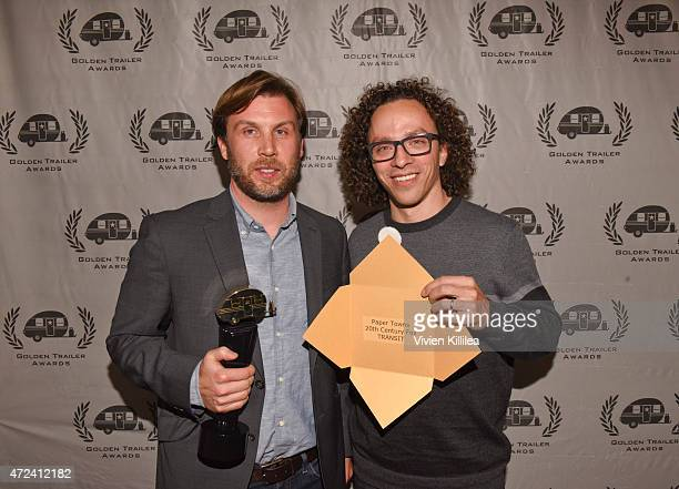 Winners of the Golden Trailer Award for Best Music in a Trailer editor Chris Conroy and music supervisor Jordan Silverberg attend the 16th Annual...