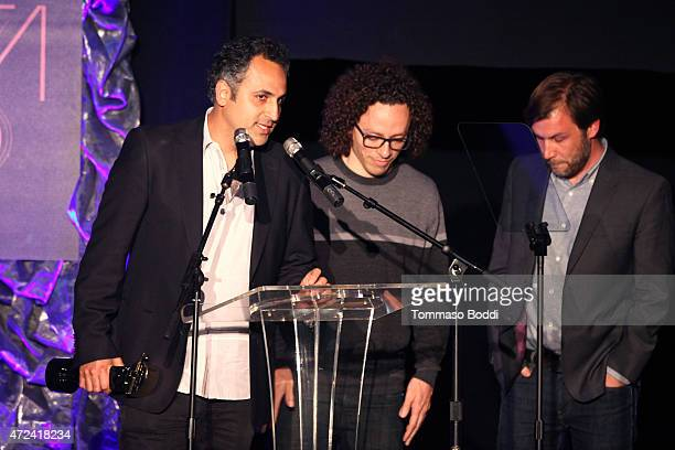 Winners of the Golden Trailer Award for Best Music in a Trailer editor Chris Conroy and music supervisor Jordan Silverberg on stage during the 16th...