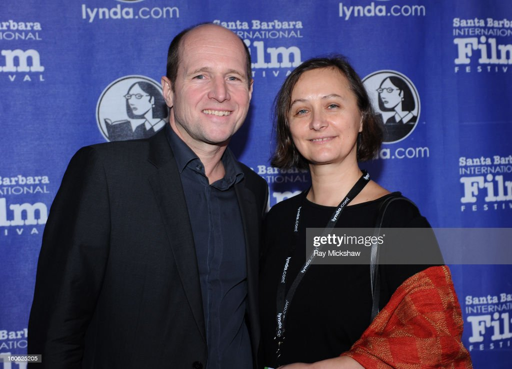 Winners of the 'International Feature Award' for the film 'Coming of Age', director Gerhard Ertel and director Sabine Hiebler at the 28th Santa Barbara International Film Festival on February 3, 2013 in Santa Barbara, California.