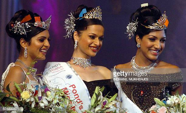 Winners of the Pond's Femina Miss India 2005 secondnd runnerup Miss EarthNiharika Singh and first runnerup Pond's Femina Miss India 2005 World...