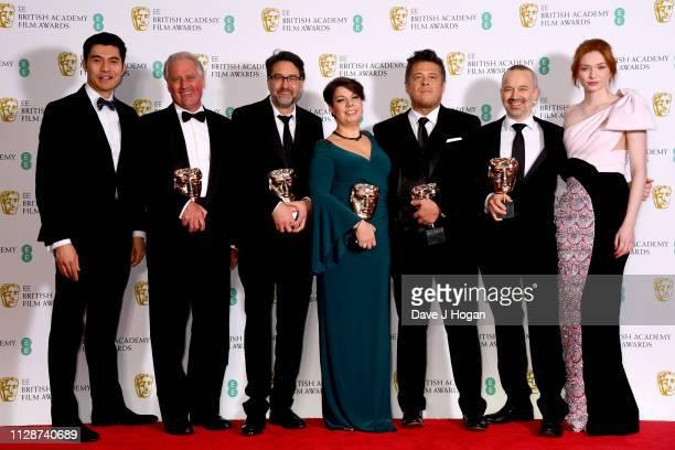 Winners of the Sound Awards for Bohemian Rhapsody Henry Golding Paul Massey John Lasau Nina Hartstone Tim Cavagin John Warhurst and Eleanor Tomlinson...