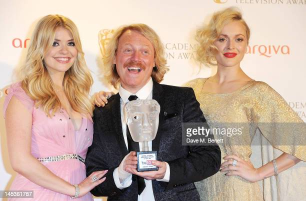 Winners of the YouTube Audience Award for Celebrity Juice Holly Willoughby, Leigh Francis aka Keith Lemon and Fearne Cotton pose in front of the...
