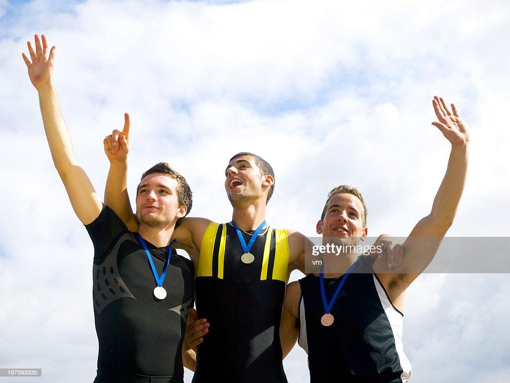 Winners on podium : Stock Photo