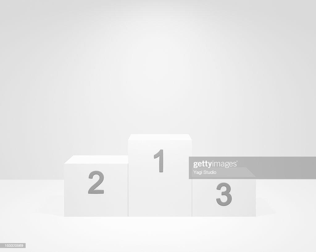 A winners' platform : Stock Photo