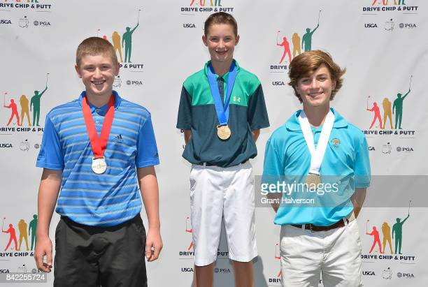 Winners Quint Dingledine Jack Farkas and Timmy Gannon in the Boys 1415 Division of The Drive Chip and Putt Championship at Pinehurst Resort on...