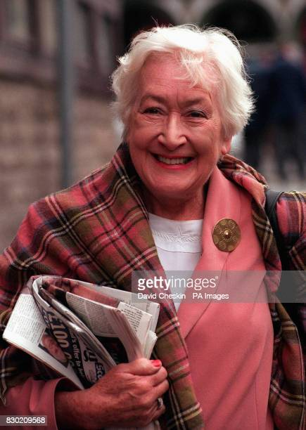 Winnie Ewing of the SNP Party the oldest member of the Scottish Parliament at the first sitting of the Scottish Parliament in Edinburgh * 22/7/01 Dr...