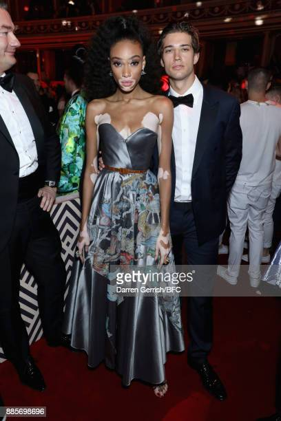 Winnie Harlow and Ben Bowers attend the after party for The Fashion Awards 2017 in partnership with Swarovski at Royal Albert Hall on December 4 2017...