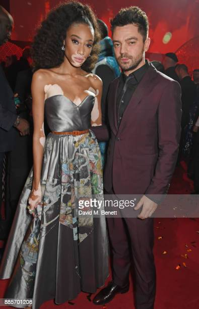 Winnie Harlow and Dominic Cooper attend The Fashion Awards 2017 in partnership with Swarovski after party at Royal Albert Hall on December 4 2017 in...