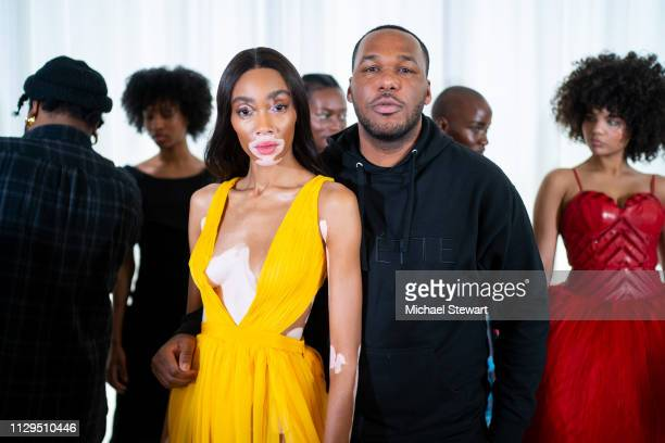 Winnie Harlow and Jason Rembert attend the Aliette Presentation during New York Fashion Week The Shows at The Standard East Village on February 13...