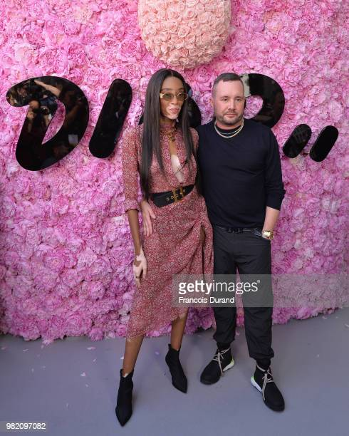 Winnie Harlow and Kim Jones attend the Dior Homme Menswear Spring/Summer 2019 show as part of Paris Fashion Week on June 23 2018 in Paris France
