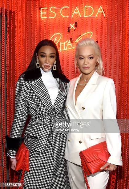 Winnie Harlow and Rita Ora attend the launch of the ESCADA Heartbag by Rita Ora on March 27 2019 in New York City