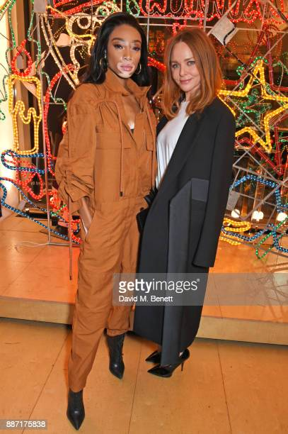 Winnie Harlow and Stella McCartney attend the Stella McCartney Christmas Lights 2017 party on December 6 2017 in London England