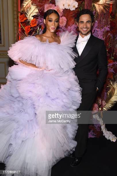 "Winnie Harlow and Zac Posen attend as Harper's BAZAAR celebrates ""ICONS By Carine Roitfeld"" at The Plaza Hotel presented by Cartier - Inside on..."
