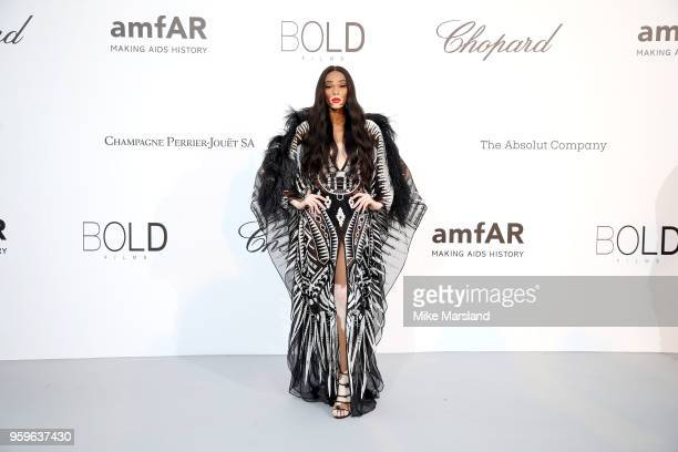 Winnie Harlow arrives at the amfAR Gala Cannes 2018 at Hotel du CapEdenRoc on May 17 2018 in Cap d'Antibes France