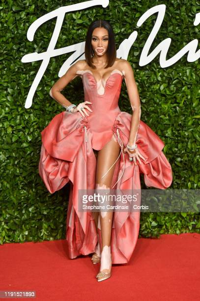 Winnie Harlow arrives at The Fashion Awards 2019 held at Royal Albert Hall on December 02 2019 in London England