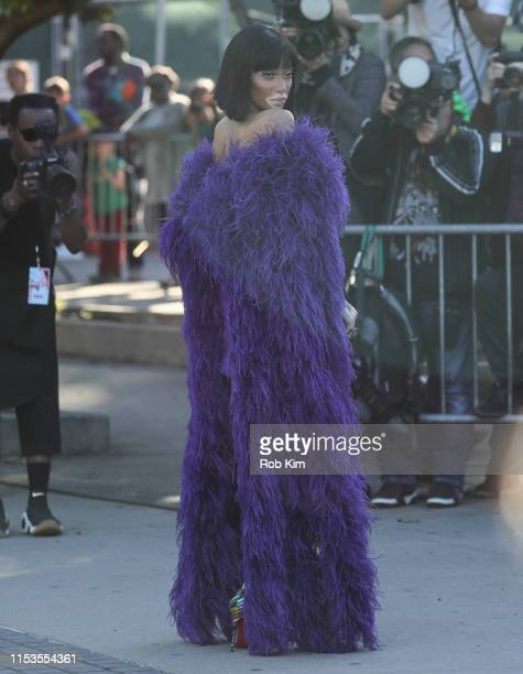 Winnie Harlow arrives for 2019 CFDA Fashion Awards at Brooklyn Museum on June 03 2019 in New York City