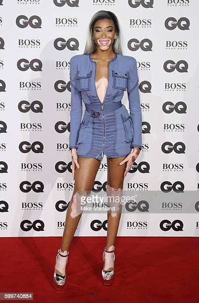 Winnie Harlow arrives for GQ Men Of The Year Awards 2016 at Tate Modern on September 6 2016 in London England